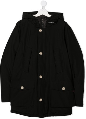Woolrich Kids Single-Breasted Padded Coat
