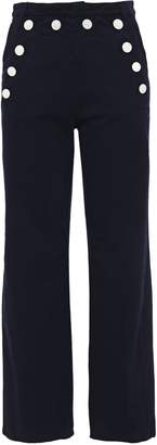 Sandro Oden Button-detailed High-rise Straight-leg Jeans