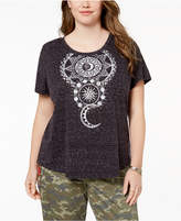 Style&Co. Style & Co Plus Size Printed High-Low T-Shirt, Created for Macy's