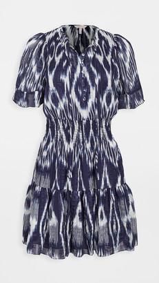 Rebecca Taylor Short Sleeve Ikat Dress