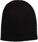 Alex Mill Men's Chunky Rib-Knit Cashmere Beanie-BLACK