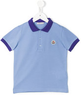 Moncler contrast collar polo shirt - kids - Cotton - 4 yrs