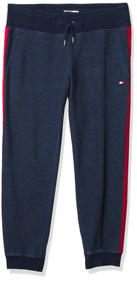 Tommy Hilfiger Women's Denim Terry Slimfit Sweatpant with Side Stripe and Pockets