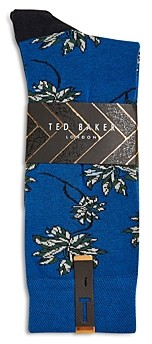 Ted Baker Mxs Khorus Leaf Design Socks