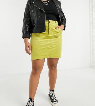 Vero Moda Curve skirt in yellow
