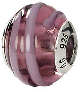 Murano Prerogatives Sterling Pink & Purple Italian Glass Bead