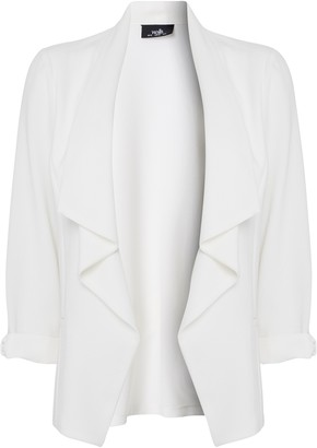 Wallis Ivory Relaxed Fit Waterfall Blazer