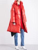 Maison Margiela High-shine padded shell puffer coat