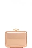 Quiz Gold Metallic Ribbed Box Bag
