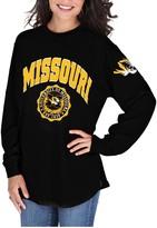 Unbranded Women's Pressbox Black Missouri Tigers Edith Long Sleeve Oversized Top