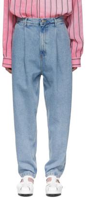 Hed Mayner Blue Loose Jeans