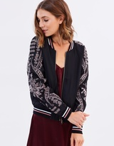 Sass Reece Embroidered Sleeve Bomber