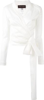 Talbot Runhof Naxos wrap-style blouse