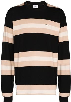 Wtaps Vatos striped long-sleeve top