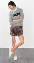 Esprit Mini skirt w wide smocked waistband