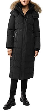 Mackage Jada Fur Trim Long Down Coat