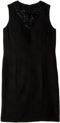 Jones New York Women's Sleeveless V Neck Sheath Dress