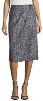 Theory Gantrima K. Pencil Skirt, Black/White