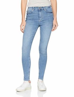 Pieces Women's Pcdelly Hw Skn CRP Slit Lb107-ba Skinny Jeans