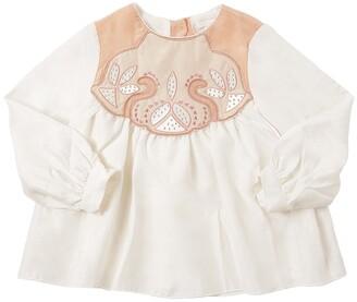 Chloé Embellished Silk Shirt