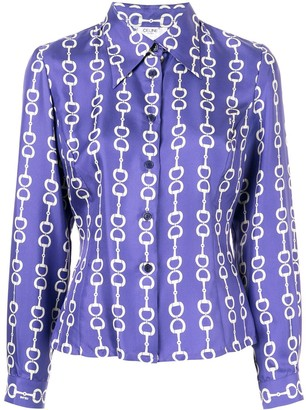 Céline Pre Owned Horsebit Print Shirt