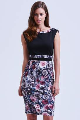 Paper Dolls Black and Floral Bodycon Dress