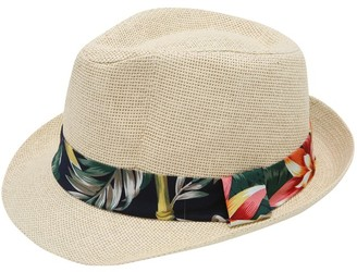 M&Co Floral band trilby hat