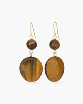 Chico's Scarlet Faux-Tiger's Eye Drop Earrings