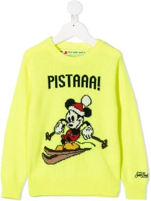 Mc2 Saint Barth Kids Mickey Mouse Slogan Knit