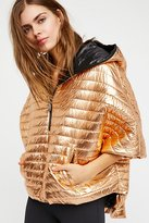 Lexington Cropped Puffer Cape by Think Royln at Free People