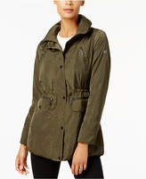 MICHAEL Michael Kors Snap-Front Cinched Raincoat