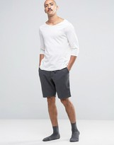 Jack Wills Jersey Lounge Shorts In Charcoal