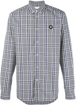 Wood Wood button-down plaid shirt - men - Cotton - S