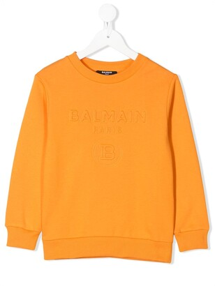 Balmain Kids Embossed Logo Sweatshirt