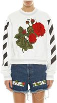 Off-White Diagonal Rose Sweatshirt