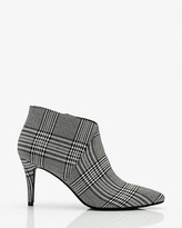 Le Château Check Print Pointy Toe Ankle Boot