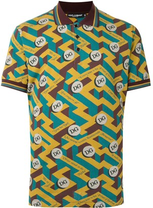 Dolce & Gabbana Slogan-Print Polo Shirt