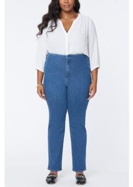 NYDJ Women's Plus Size Marilyn Straight Jeans in Forver Slimming Denim