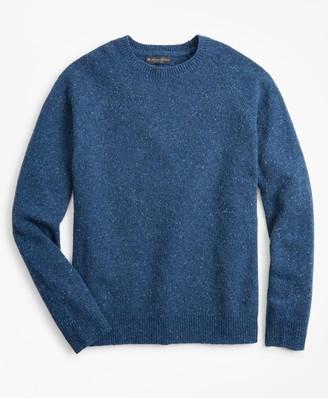 Brooks Brothers Merino Wool Donegal Raglan Crewneck Sweater