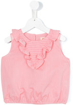 Maan sleeveless frill top