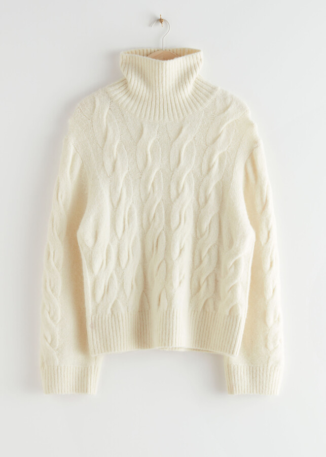 And other stories Oversized Alpaca Blend Turtleneck Knit Sweater