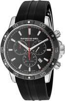Raymond Weil Men's Tango 43mm Rubber Band Steel Case Sapphire Crystal Quartz Watch 8560-SR1-20001