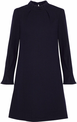 Goat Melody Ruffle-trimmed Wool-crepe Mini Dress