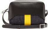 Tibi Garçon leather and denim cross-body bag