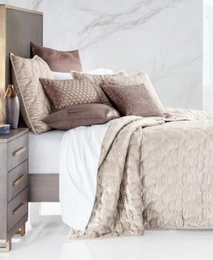 Hotel Collection Contour Velvet Full/Queen Coverlet, Created for Macy's Bedding