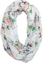 David & Young Women's Christmas Reindeer Holiday Infinity Loop Scarf