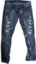 Balmain Grey Cotton Jeans