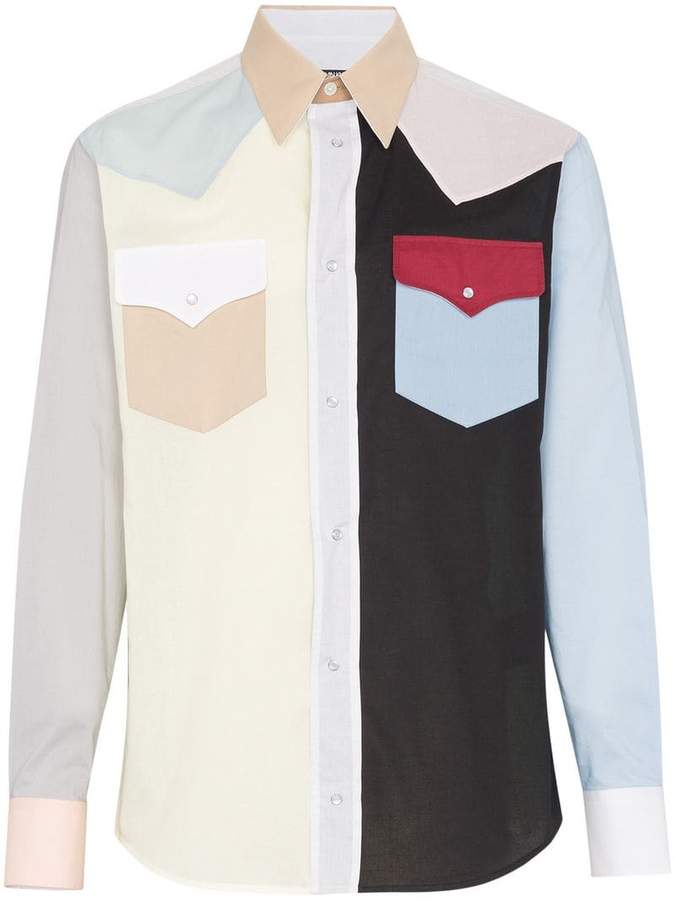 Calvin Klein Colour block western shirt