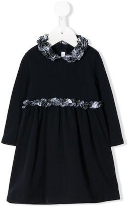 Il Gufo Checked Ruffle-Trimmed Dress