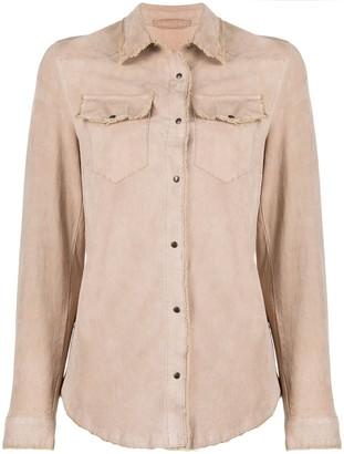 Salvatore Santoro Leather Long Sleeve Shirt